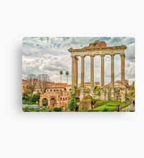 The Temple of Saturn Canvas Print