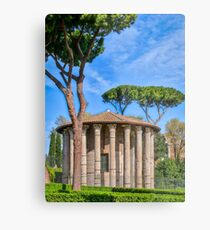 Temples of the Forum Boarium Metal Print