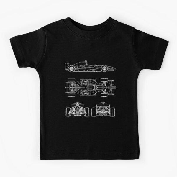 Proyecto de planos de autos de carrera Camiseta para niños