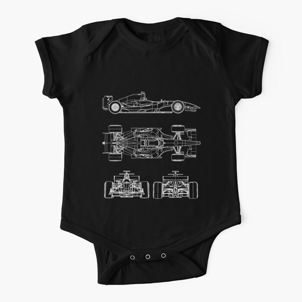Race car blueprint project Baby One-Piece
