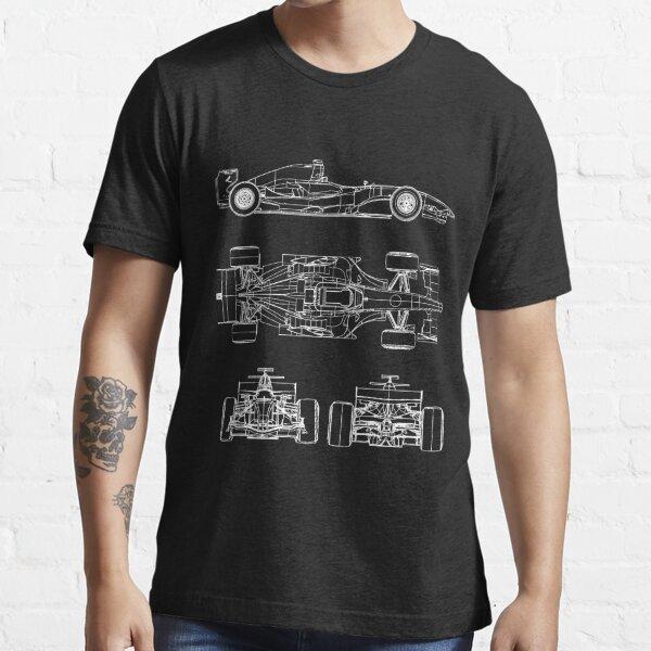 Proyecto de planos de autos de carrera Camiseta esencial