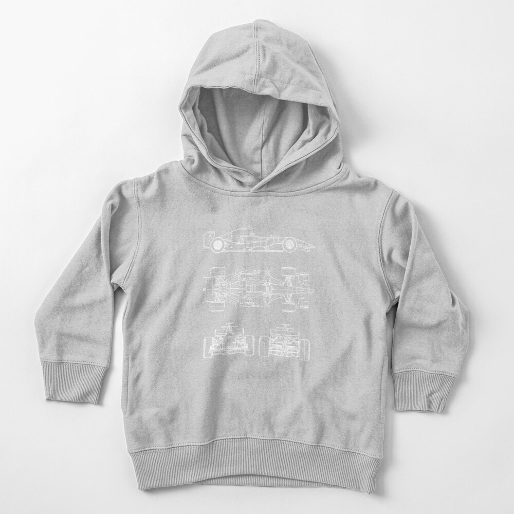 Race car blueprint project Toddler Pullover Hoodie