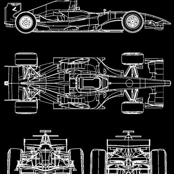 F1 race car blueprint project by ideasfinder