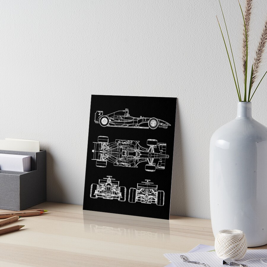 F1 race car blueprint project art boards by ideasfinder redbubble f1 race car blueprint project by ideasfinder malvernweather Choice Image