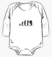 Hiking  evolution, #Hiking  One Piece - Long Sleeve
