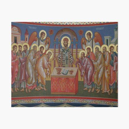 Orthodox Christian Icon the Holy Eucharist Art Board Print