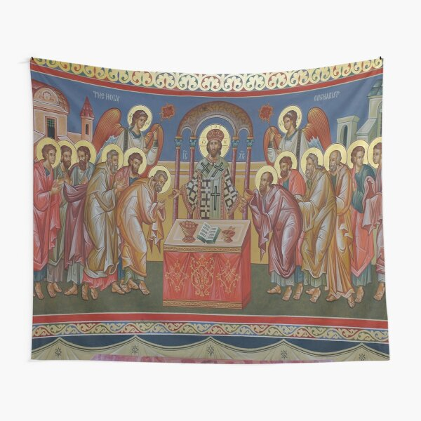 Orthodox Christian Icon the Holy Eucharist Tapestry