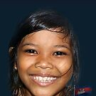 Happy Cambodian Lass by Bev Pascoe