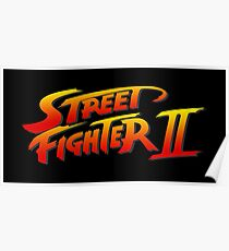 Street Fighter 2 II Logo Poster