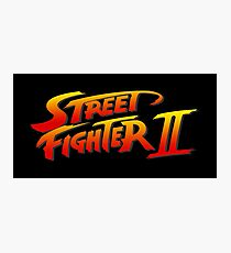 Street Fighter 2 II Logo Photographic Print