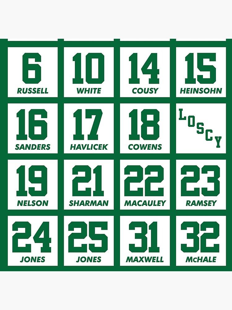 dd7a870ed Retired Numbers - Celtics