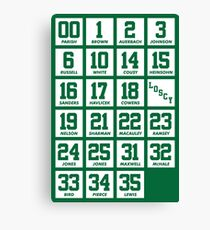 Retired Numbers - Celtics Canvas Print