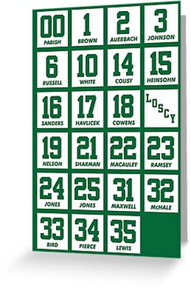 82a516654 Retired Numbers - Celtics