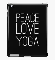 peace love yoga shirt iPad Case/Skin