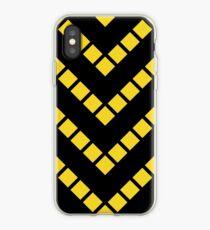 Black and Yellow diagonal design iPhone Case