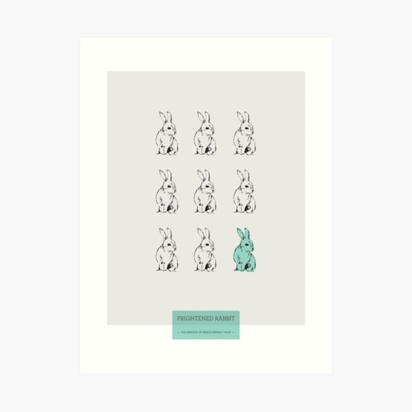 Impresión asustada del conejo Lámina artística