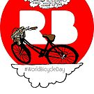 World Bicycle Day Redbubble Sticker by Blackbird76
