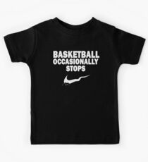 Basketball Occasionally Stops - Nike Parody (White) Kids Tee