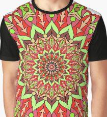 Red and green mandala Graphic T-Shirt