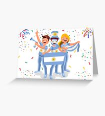 Argentina Football Fans Greeting Card