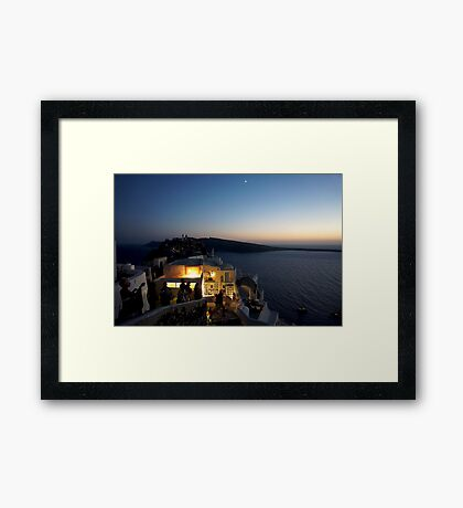 Οία Twilight Framed Print