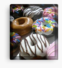 Round Food for Every Mood Metal Print