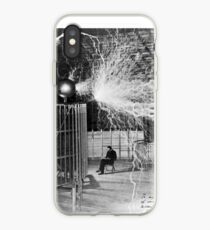 nikola testa lightning iPhone Case