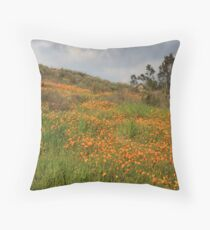 Carpeted With Poppies Throw Pillow