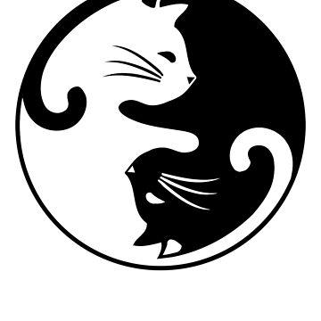 Cat Yin-Yang Interconnected  by T-ShirtTech