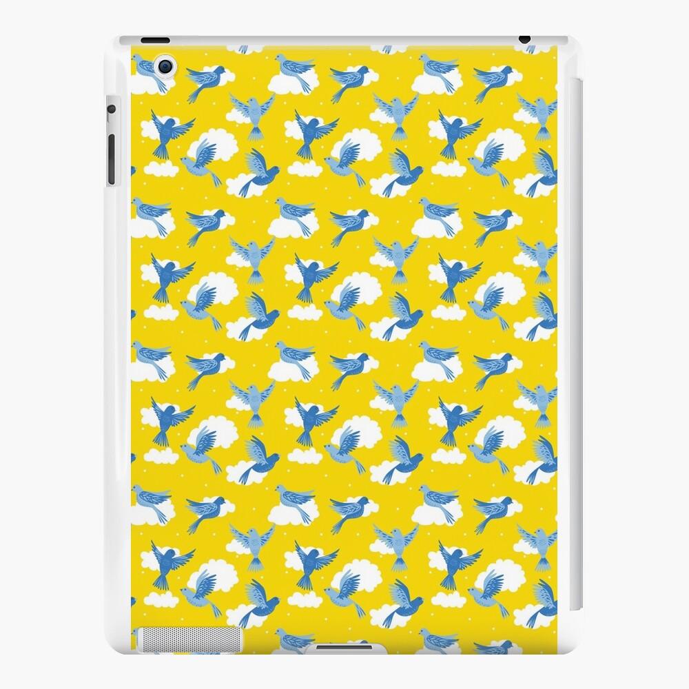 Blue Birds on a Sunny Yellow Sky iPad Cases & Skins