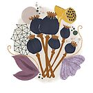 Fall Seed Pod Bouquet by BirdsongPrints