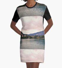 Peaceful Lake Bled, Slovenia Graphic T-Shirt Dress