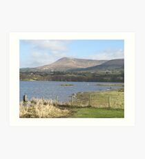Llangorse Lake, Brecon. Image 1497. Art Print