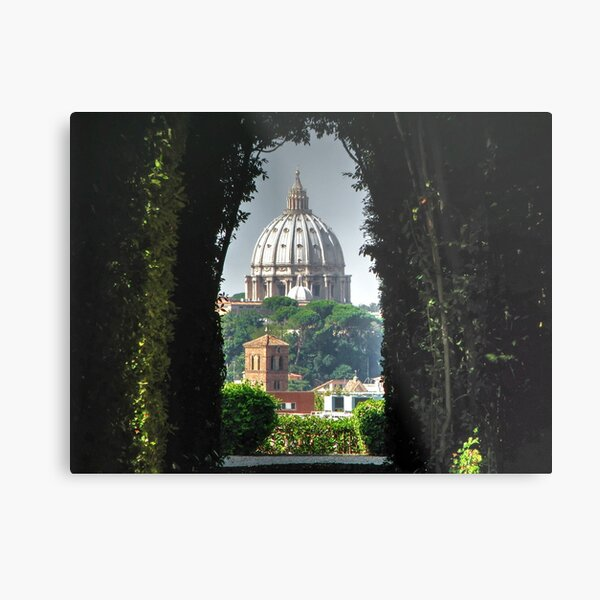 Vatican and St Peters LATEST VERSION Metal Print