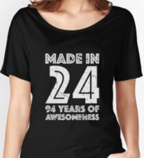 94th Birthday Gift Adult Age 94 Year Old Men Women Womens Relaxed Fit T Shirt