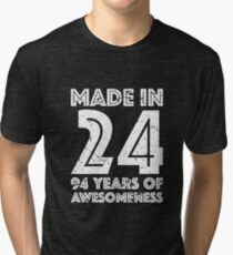 94th Birthday Gift Adult Age 94 Year Old Men Women Tri Blend T Shirt