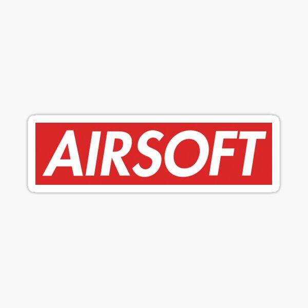 AIRSOFT RED Banner Sticker