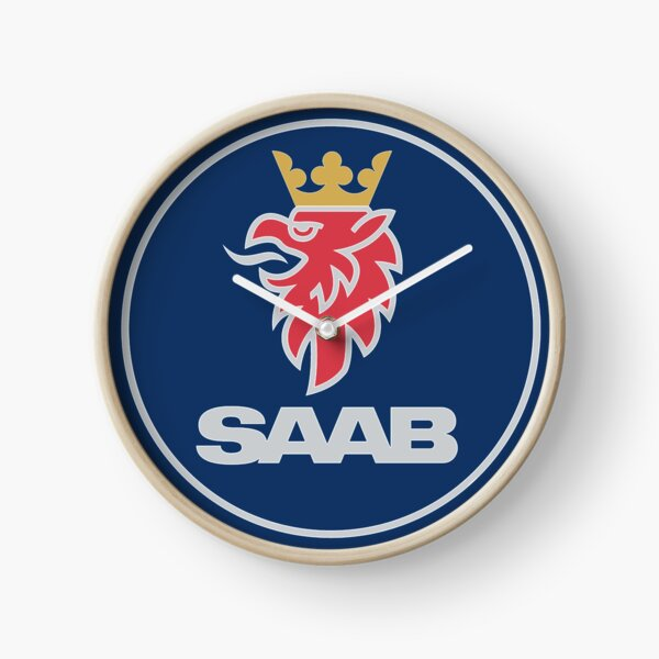 Saab Car Logo Clock