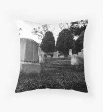 Gravestones & Three Trees Throw Pillow