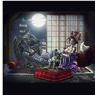 «Kitsune & Tengu» par le-grom