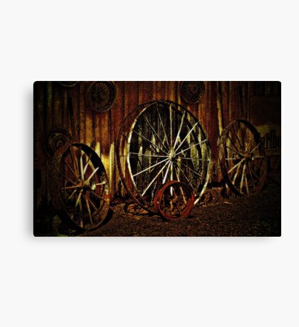 """""""Wagon Wheels under a Full Moon""""... prints and products Canvas Print"""