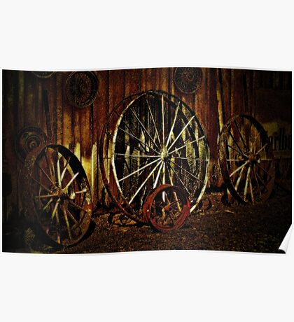 """""""Wagon Wheels under a Full Moon""""... prints and products Poster"""