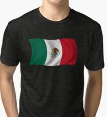 Waving Flag of Mexico Tri-blend T-Shirt