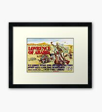 Lawrence Of Arabia 1962 Credits with lawrence on camel Framed Print