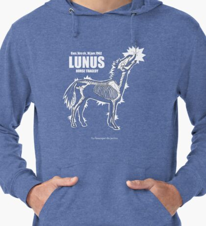 LUNUS , horse tragedy Sweat à capuche léger