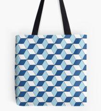 Cubes bleus Tote bag