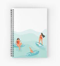 Surfing girls Spiral Notebook