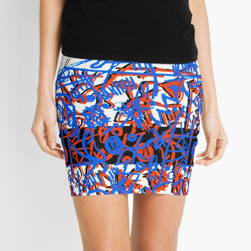 Chaos Brings Joy - Illustration Mini Skirt