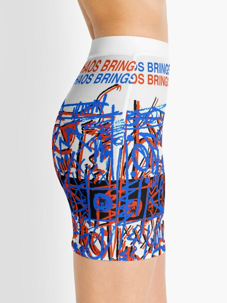 Alternate view of Chaos Brings Joy - Illustration Mini Skirt
