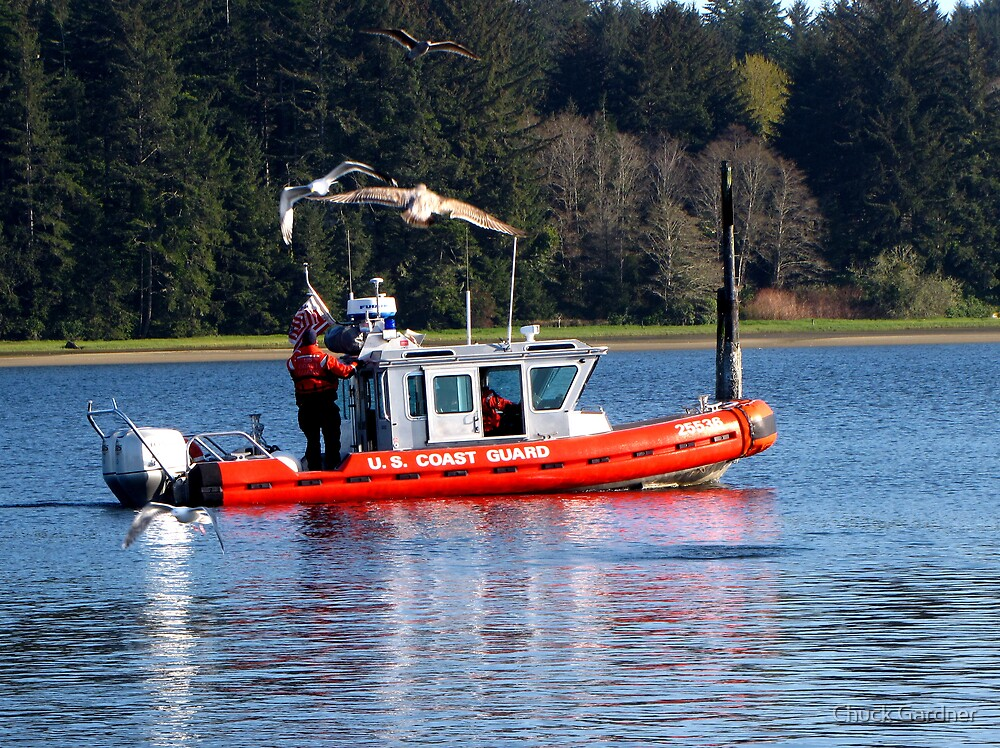 U.S. Coast Guard Launches Their New Boat  #25536 by Chuck Gardner